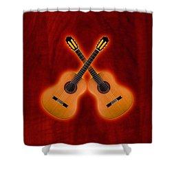 Flamenco  Guitar  Shower Curtain by Doron Mafdoos