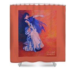 Flamenco-john Singer-sargent Shower Curtain by Dagmar Helbig