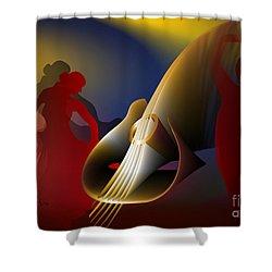 Shower Curtain featuring the digital art Flamenco by Leo Symon