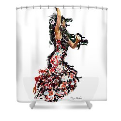 Flamenco Series #12 Shower Curtain by Mary Machare