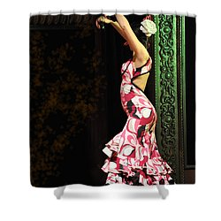 Flamenco Series #8 Shower Curtain by Mary Machare