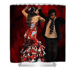 Flamenco Series #9 Shower Curtain by Mary Machare