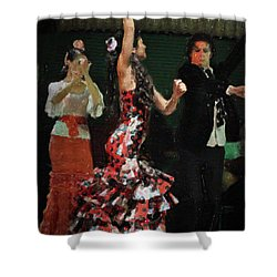 Flamenco Series No 13 Shower Curtain
