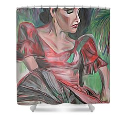 Flamenco Solo Shower Curtain by Ecinja Art Works