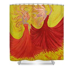 Shower Curtain featuring the painting Flamenco by Stephanie Grant