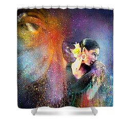 Flamencoscape 04 Shower Curtain by Miki De Goodaboom