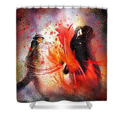 Flamencoscape 07 Shower Curtain by Miki De Goodaboom
