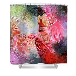 Flamencoscape 13 Shower Curtain by Miki De Goodaboom