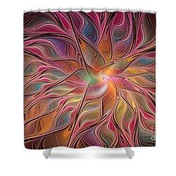 Flames Of Happiness Shower Curtain by Deborah Benoit