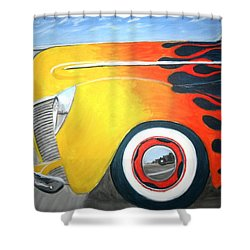 Shower Curtain featuring the painting Flames by Stacy C Bottoms