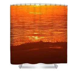 Flames With No Horizon Shower Curtain by Amy Gallagher