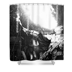 Shower Curtain featuring the photograph Flaming Gene by Steven Macanka