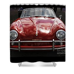Shower Curtain featuring the photograph Flaming Red Porsche by Victoria Harrington