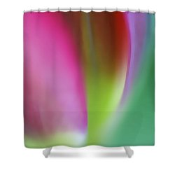 Shower Curtain featuring the photograph Flaming Tulip by Annie Snel