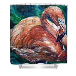 Flamingo Flare Shower Curtain