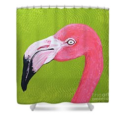 Flamingo Head Shower Curtain