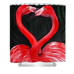 Love  Is... Flamingo Love. Inspirations Collection Shower Curtain