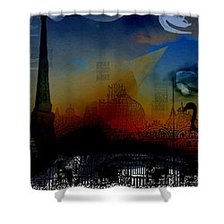 Shower Curtain featuring the digital art Flamingo Pink Gone by Cathy Anderson