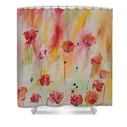 Shower Curtain featuring the painting Flanders Field by PainterArtist FIN