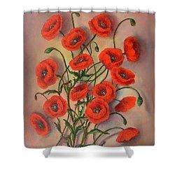 Flander's Poppies Shower Curtain