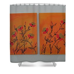 Flanders Poppies Shower Curtain by Sharyn Winters