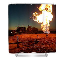 Flare And A Vacuum Truck Shower Curtain