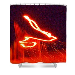 Flare Up On The Sun Shower Curtain