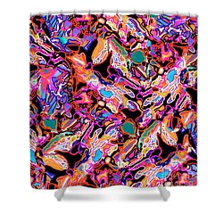 Flash Mob Shower Curtain by Expressionistart studio Priscilla Batzell