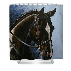 Flash Shower Curtain by Richard De Wolfe
