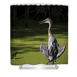 Flasher Pose Shower Curtain