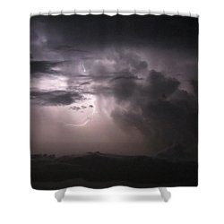 Flashes Of Lightening Shower Curtain