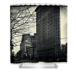 Flat Iron Building Fifth Avenue And Broadway Shower Curtain by Sabine Jacobs