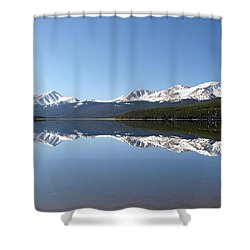 Flat Water Shower Curtain by Jeremy Rhoades