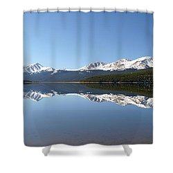 Flat Water Shower Curtain by Jeremy Rhoades