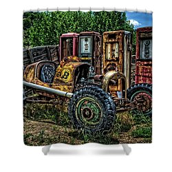 Shower Curtain featuring the photograph Flathead Ford Racer by Ken Smith
