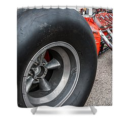 Flathead Powered Front Engine Dragster Shower Curtain