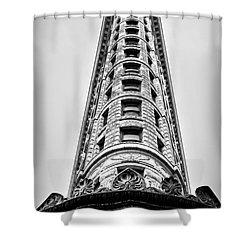 Flatiron Building - Prow Shower Curtain by James Aiken