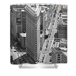 Shower Curtain featuring the photograph Flatiron Building by Randi Grace Nilsberg