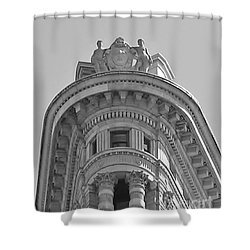 Flatiron Detail Shower Curtain by John Wartman
