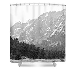 Flatiron In Black And White Boulder Colorado Shower Curtain by James BO  Insogna