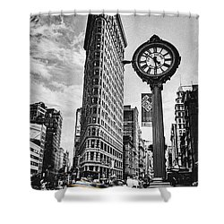 Flatiron Rush Shower Curtain by Andrew Paranavitana