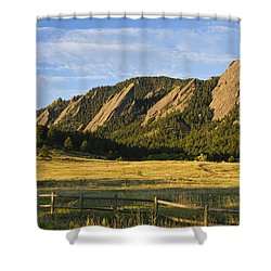 Flatirons From Chautauqua Park Shower Curtain