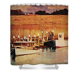 Flemings Landing Delaware Shower Curtain by Lianne Schneider
