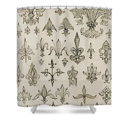 Fleur De Lys Designs From Every Age And From All Around The World Shower Curtain by Jean Francois Albanis de Beaumont