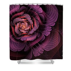 Fleur Pourpre Shower Curtain by John Edwards