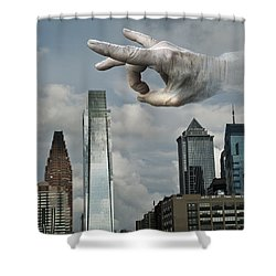 Flicking Philly Shower Curtain by Rick Mosher