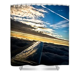 Flight 777 Shower Curtain
