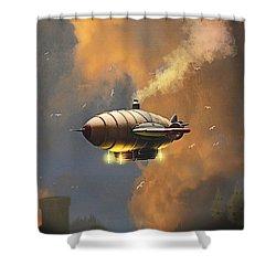 Flight At Sunset Shower Curtain by Ken Morris
