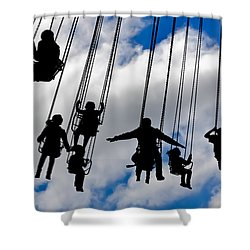 Flight Shower Curtain by Caitlyn  Grasso