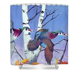 Shower Curtain featuring the painting Flight Of Fancy by Jason Girard
